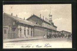 CPA Valenciennes, Gare Du Chemin De Fer Du Nord, La Gare - Valenciennes