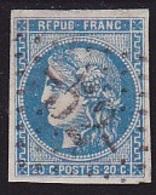 N° 46B Oblitéré - Voir Verso & Descriptif - - 1870 Emission De Bordeaux