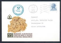 Yugoslavia 1979 Cover:  Minerals Mineralien Mineraux; Mining Bergbau; Mežica Mine:Lead Zink; Minerals Fair - Mineralien