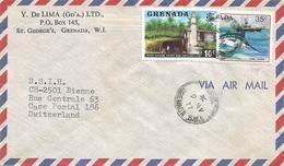 Grenada 1977 St Georges Rum Distillery Swordfish Fishing Cover - Grenada (1974-...)