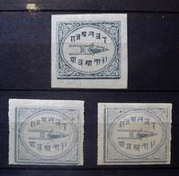 INDIA NATIVE FEUDATORY STATES ALWAR 1877- 1901. 3 STAMPS. INDE. - Alwar