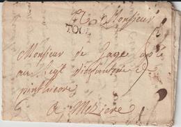 """LAC """"TOUL""""  TM 5 -> Régiment Penthièvre Infanterie à Mezières 1755 (lire Et Voir 2 Lots Suivants) - 1701-1800: Precursori XVIII"""