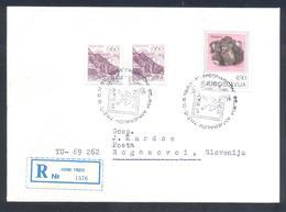 Yugoslavia 1982 Registered Cover: Minerals Mineralien Mineraux; Mining Bergbau; International Minerals Fair  Sfalerit - Mineralien