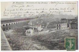 Cpa Bon Etat ,  Montpellier ,  Panoramo Pris Des Arceaux , Timbre Courrier Verso , - Montpellier