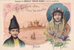 Chromo - Chocolat Poulain Orange - La Coiffure Chez Les Peuples - Perse - Poulain