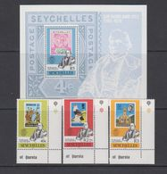 Seychelles 1979 Sir Rowland Hill 3v (corners) + M/s ** Mnh (42541A) - Seychellen (1976-...)