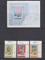 Seychelles 1979 Sir Rowland Hill 3v (corners, Sheet Number In Margin) + M/s ** Mnh (42541B) - Seychellen (1976-...)