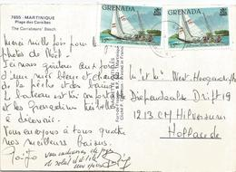 Grenada 1985 St Georges Sailing Boat Yacht Viewcard - Grenada (1974-...)