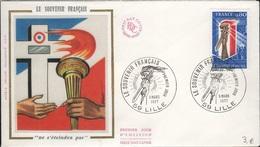 FDC 508 - FRANCE N° 1926 Le Souvenir Français Sur FDC 1977 - FDC