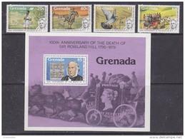 Grenada 1979 Sir Rowland Hill 4v + M/s ** Mnh (42542) - Grenada (1974-...)