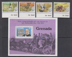 Grenada 1979 Sir Rowland Hill 4v (+margin) + M/s ** Mnh (42542A) - Grenada (1974-...)