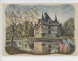 Azay Le Rideau - Homualk Illustrateur Chateaux De La Loire (éd Gaby N°7) Romantique Cygne - Homualk