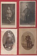 Lot De 4 Cartes Photo Soldats Du 3 ème ,18 ème ,15 ème ,18 ème Rgt  ? - Militaria