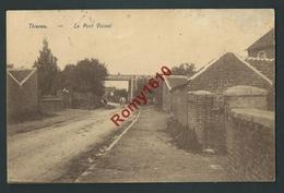 Thisnes  (Hannut)    Le Pont Du Chemin De Fer. Vicinal. 2 Scans . - Hannuit