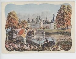 Chambord - Homualk Illustrateur Chateaux De La Loire (éd Gaby N°16 Cp Vierge) Chasse à Coure - Homualk