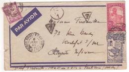 Soudan Français LETTRE PAR AVION (dont Expo New-York 1939)  KOULIKORO 1940 Contrôle Censure F1 TAXE 2F Banderole Duval - Soedan (1894-1902)