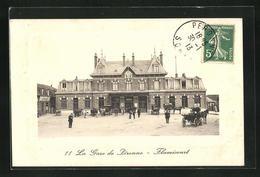 CPA Peronne, Vue D'ensemble De La Gare - Peronne