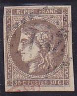 N° 47 Oblitéré - Voir Verso & Descriptif - - 1870 Ausgabe Bordeaux