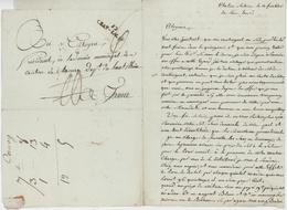 52 CHAT-SALINS - Château Salins Contingent De Sel - Marcophilie (Lettres)