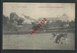 Tavier-Limont.  ( Anthisnes) Le Château Et La Ferme De La Chapelle. Vaches.    2 Scans . - Anthisnes