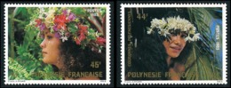 POLYNESIE 1983 - Yv. 206 Et 207 **   Cote= 3,30 EUR - Couronnes De Fleurs (2 Val.)  ..Réf.POL23909 - Französisch-Polynesien