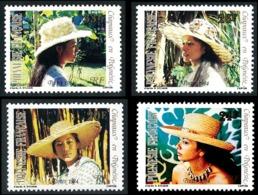 POLYNESIE 1984 - Yv. 212 213 214 215 **   Cote= 3,60 EUR - Chapeaux En Polynésie (4 Val.)  ..Réf.POL23915 - Polynésie Française