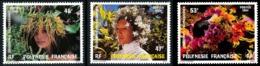 POLYNESIE 1984 - Yv. 219 220 221 **   Faciale= 1,23 EUR - Couronnes De Fleurs (3 Val.)  ..Réf.POL23923 - Polynésie Française