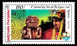 POLYNESIE 1984 - Yv. 222 **   Faciale= 1,26 EUR - 4e Festival Des Arts Du Pacifique-Sud  ..Réf.POL23924 - Polynésie Française