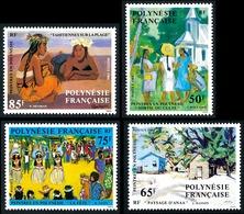 POLYNESIE 1984 - Yv. 223 224 225 226 **   Faciale= 2,31 EUR - Tableaux De Peintres En Polyn. (4 Val.)  ..Réf.POL23926 - Polynésie Française