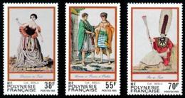 POLYNESIE 1985 - Yv. 238 239 240 ** SUP  Cote= 4,70 EUR - Folklore. Gravures Anciennes (3 Val.)  ..Réf.POL23935 - Französisch-Polynesien