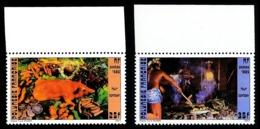 POLYNESIE 1985 - Yv. 241 Et 242 ** Bdf   - Four Tahitien: Cochon, Cuisiniers (2 Val.)  ..Réf.POL23939 - Französisch-Polynesien