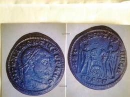 Follis De Maxence Tête à Dr Rv / Les Dioscures Avec La Louve Allaitant Remus Et Romulus - 5. L'Anarchie Militaire (235 à 284)