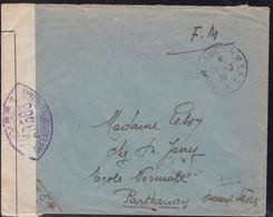 Guerre 1939/1945 - Censure Francaise De Septembre 1939 - Guerres