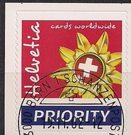 2002 Schweiz Mi.  1819 FD - Used  Goldenes Edelweiß Mit Schweizer Kreuz - Used Stamps