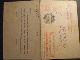 Schweiz Kriegsgefangenen GA Karte F/A Am 17.12.1918 Von Schaffhausen Antwortteil * - Switzerland