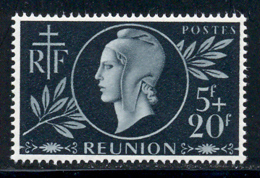 Reunion 1944 Yvert 251 ** TB Bord De Feuille - Réunion (1852-1975)