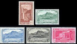 Reunion 1933 Yvert 132 - 140 - 166 - 169 - 170 ** TB - Réunion (1852-1975)