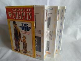 Lot De 3 Cassette Videos De Charlie Chaplin - Classiques