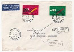 LA REUNION - Enveloppe Affr. 2 Valeurs Code Postal - Le Tampon 31.1.1975 - Covers & Documents