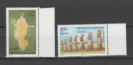 FRANCE / 1998 / Y&T SERVICE N° 118/119 ** : UNESCO (Pompéi/Île De Pâques) BdF D - Gomme D'origine Intacte - Service