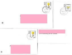 3049c: Economy Domestic Letter, All 3 Postal Stationary Variants Of The Post Office, If Necessary Used - Abarten & Kuriositäten