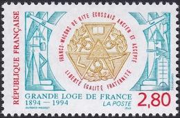 FRANCE, 1994, La Grande Loge De France (Yvert 2912 ) - France