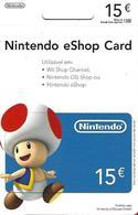 PORTUGAL - Gift Card - Nintendo EShop Card 15€ - Gift Cards