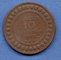 Tunisie- 10 Centimes 1892 A - Km # 222    état  TB - Tunisia