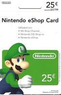 PORTUGAL - Gift Card - Nintendo EShop Card 25€ - Tarjetas De Regalo