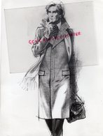 75- PARIS- MARCEL BUR COUTURE MODE-138 FAUBOURG SAIN HONORE-RARE PHOTO ORIGINALE PARDESSUS CASHMERE - Métiers
