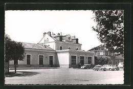 CPA Melun, La Gare, La Gare Avec La Place - Melun