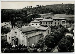 CHIANCIANO   TERME  (SI)    CHIESA  E  PENSIONE  S.  ANTONIO               (VIAGGIATA) - Italia