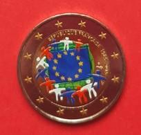 FRANCE 2015 - DRAPEAU EUROPEEN - 2 EUROS COMMEMORATIVE COULEUR - FARBE - COLORED - COLOR - France