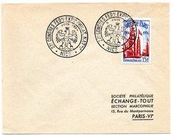 HERALDIQUE = 06 NICE 1954 = CACHET TEMPORAIRE  Illustré D' Une AIGLE '27ème CONGRES FEDal EXPon PHILATELIQUE' - Postmark Collection (Covers)